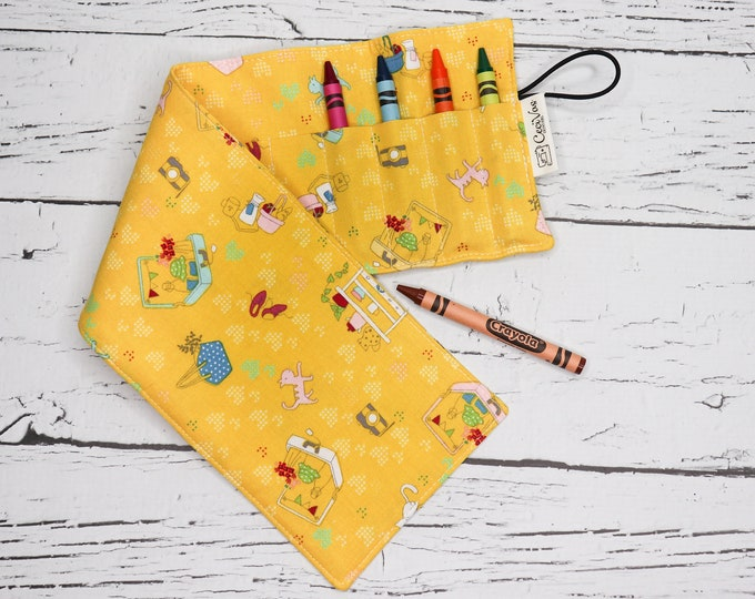 Crayon Roll - 16 Crayons - Yellow Store
