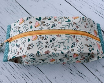 Popcorn Pouch - Little Birds - zippered pouch