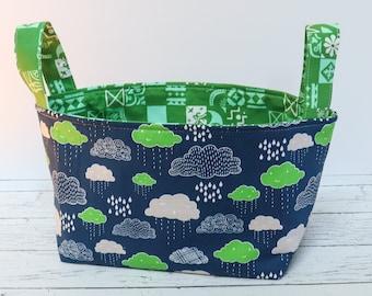 Fabric Basket - Blue Clouds