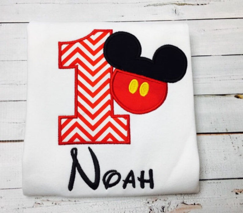 Mickey Mouse Birthday Shirt Personalized 1 9