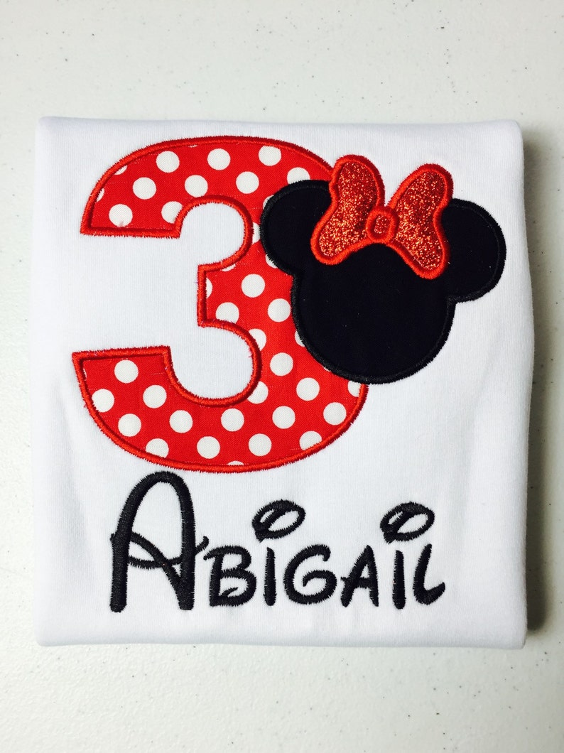 Minnie Mouse Birthday Shirt Personalized