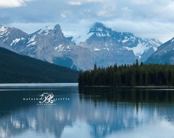 Mountain Landscape photographyprints, Alberta Canada, Blue wall decor, Lake Photography Canadian Rockies,  Banff National Park, Nature Print