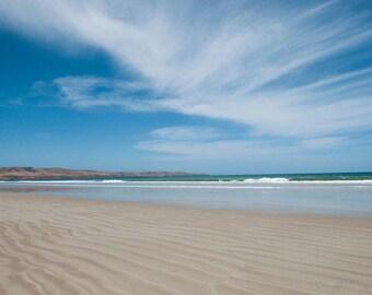 Beach canvas wall art, Beach wall decor, Beach house decor, Seascape canvas, Blue wall art photography, Aldinga Beach Adelaide Australia
