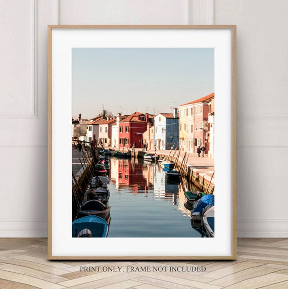 Large Wall Art Decor Burano Italy Island Photography Art Print Venice Italy Travel Photography Print