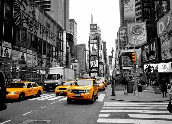 New york black and white photograpy prints nyc colour pop