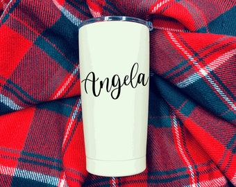 Name Decal - Text Decal - Yeti Decal - Cup Decal - Custom Decal - Vinyl Decal - Tumbler Decal
