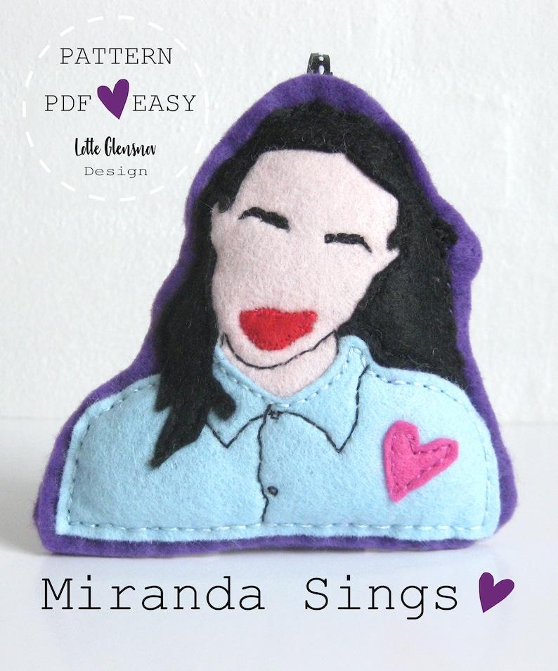 Instant download Jeffree Star Grav3yardgirl Miranda Sings Mr Shane Dawson cute hand stitched Jet Felt Ornaments Pattern