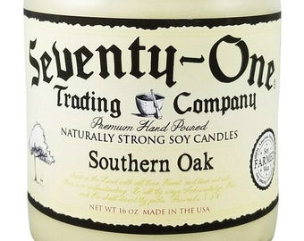 16 oz 80 Hour Richly Scented Soy Candle - Southern Oak manly candle