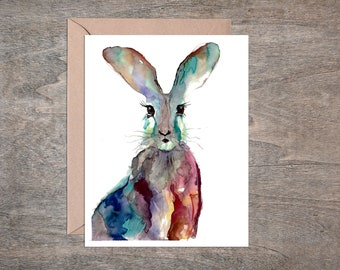 Easter Bunny Blank Greeting Card