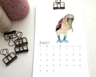 2021 Wall Calendar // All the Birds Calendar // Desk Calendar // Bird Calendar // Fabulous Birds