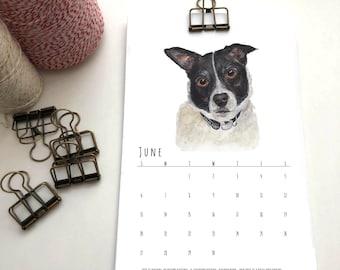 2021 Wall Calendar // Dog Calendar // Desk Calendar // Pet Calendar