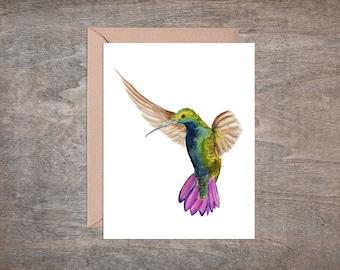 Hummingbird Greeting Card Set of 8 Cards // Bird Notecard