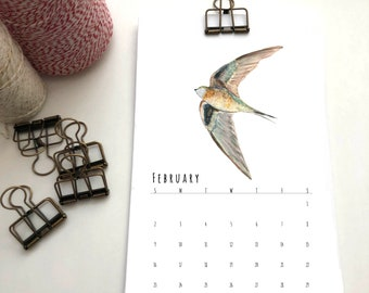 2021 Wall Calendar // Vaux's Swift Calendar // Desk Calendar // Bird Calendar // Portland Calendar