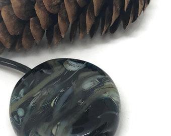 Large Black Pocket Meditation Minder /Mindful Glass