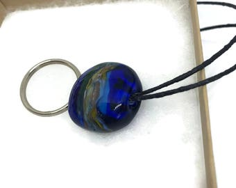 Mindful Glass Token. Set Your intention with an Art Glass Keychain