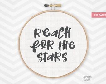 reach for the stars counted cross stitch pattern nursery decor xstitch pdf