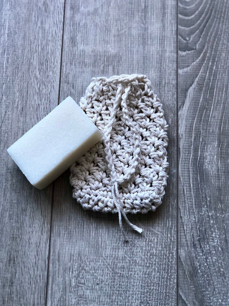 Soap saver soap pouch natural and eco-friendly 100% cotton image 0