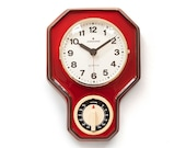 Space Age JUNGHANS Ceramic Kitchen Clock - Timer Mid Century Panton Modern Wall Red mcm 70s 1970s alarm Fat Lava