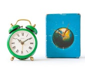 NOS 60s Garant Travel Alarm Clock Pocket Modernism Mid Century Germany 1day Space Age Mechanical New in Box