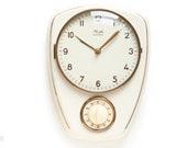 1960s KIENZLE Ceramic Kitchen Clock - Modernist Mid Century Wall Pottery 60s 50s mcm Short Timer Germany