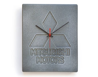 80s MITSUBISHI Pottery Wall Clock Ad Advertising Japan Minimalism Design 90s Original Vintage Motors large