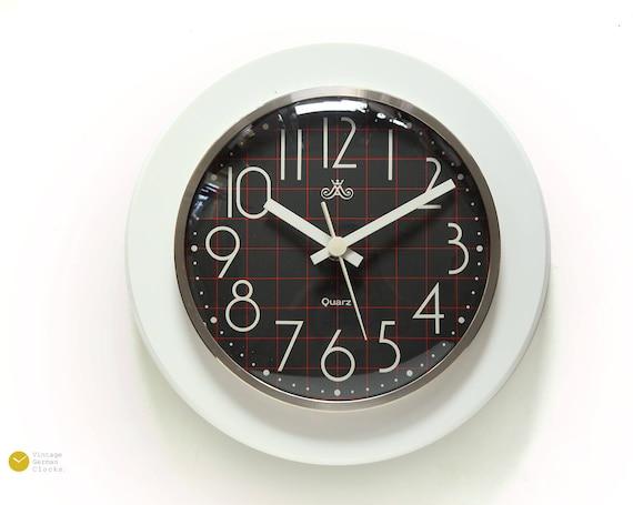 Astounding 70S Modern Plastic Wall Kitchen Clock Panton Space Age Eames Pop Mid Century Atomic Mcm 60S White Quartz Gdr Home Interior And Landscaping Synyenasavecom