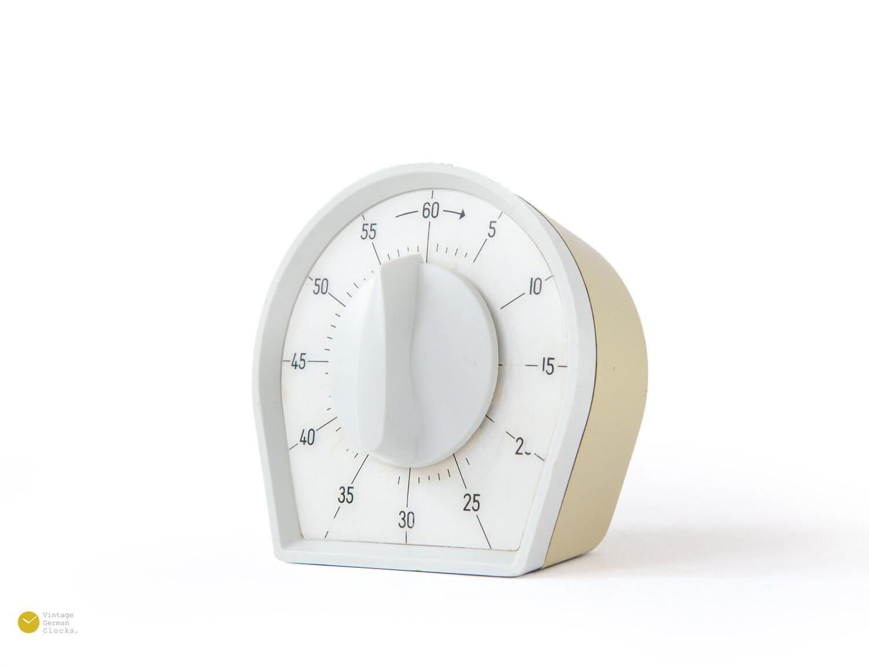 60s KIENZLE Atomic Kitchen Timer Germany - Modern Plastic Space age mcm  short egg 1970s 60er 70er Signal Alarm