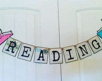 Read, Reading banner, classroom decor, teachers banner, teacher's gift, library decor,  librarian, library