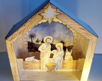 Small and elegant Origami nativity FREE shipping costs! Ready to ship