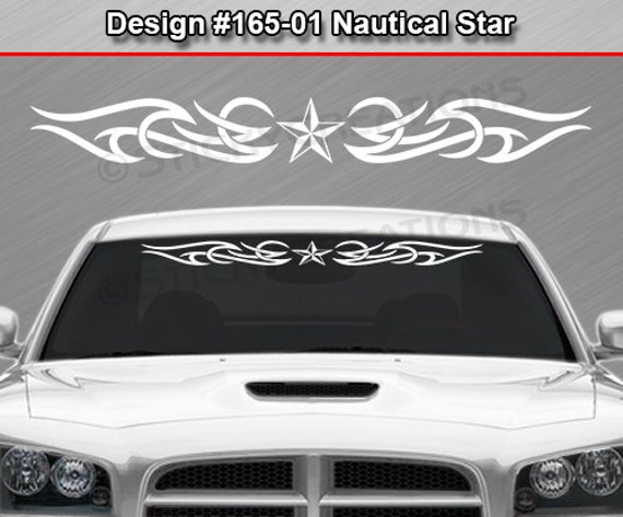 Design #157-01 NAUTICAL STAR Tribal Windshield Decal Window Sticker Graphic Car