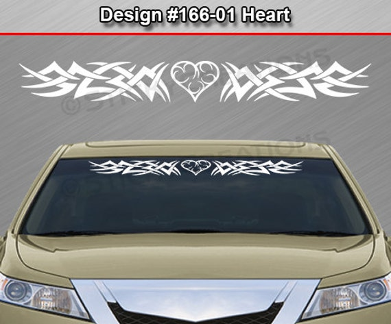 Design #122 2 Color Custom Windshield Tribal Swirl Window Sticker Decal Graphic