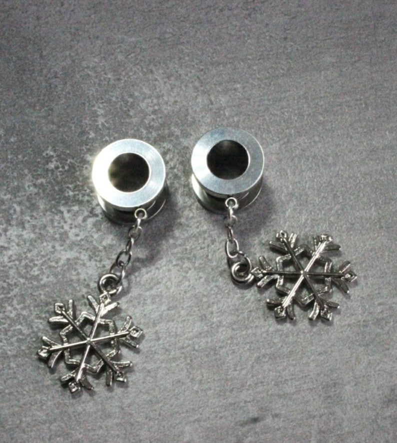 00 Gauges 0g 00g Ear Stretchers Screw Fit Gauge Earrings READY TO SHIP Ear Tunnels Dangle,8mm or 10mm Christmas Gift Plugs