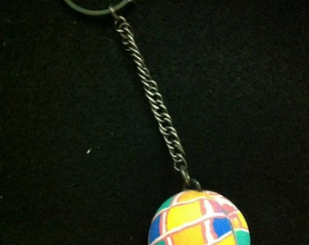 "HANDMADE ""Mosaic"" Bouncy Ball Keychain - NEVER lose your keys AGAIN!!!"