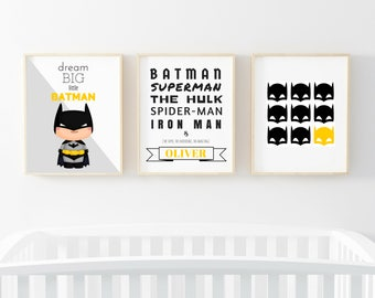 Superhero art | Etsy