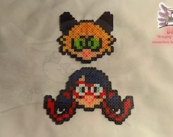32a14ea1c Miraculous Ladybug and Cat Noir Custom Perler Bead Set