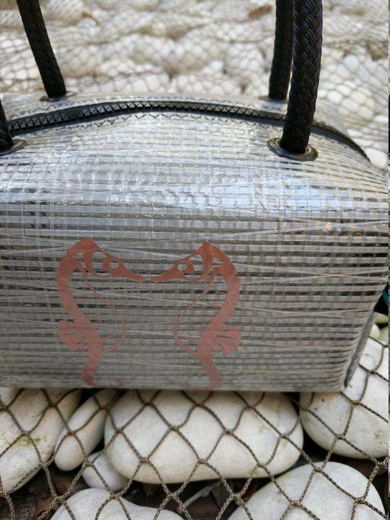 Seahorse Sailcloth Bag  Bikini bag Toiletry bag