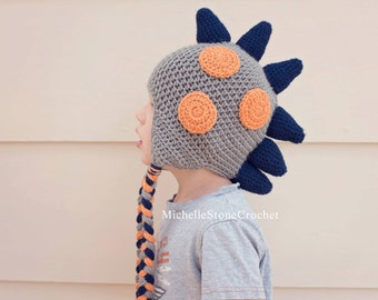 Dinosaur beanie, infant, baby, toddler, child, and adult sizes.   *made to order*