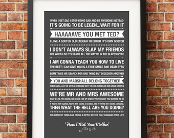 Posters Met Letter : How i met your mother poster etsy