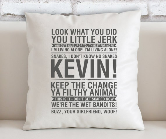 Home Alone Quotes Filled Cushion Etsy