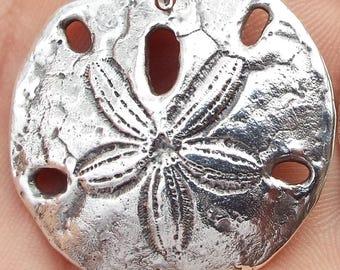 Custom Jewelry Silver Pendant Sand Dollar