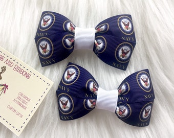 United States Navy Hair Bow