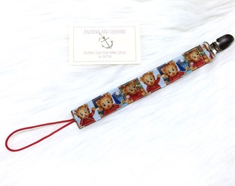Daniel Tiger's Neighborhood Universal Pacifier Clip - To keep that binky safe! (Choose from 3 patterns!)