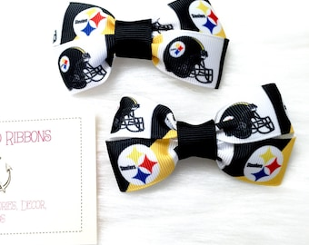 Various NFL Teams - Set of TWO Hair Bows / Barrettes / Clips!
