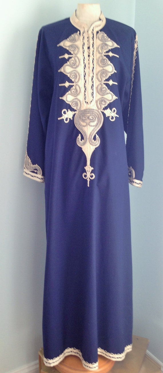 Made in Egypt Navy Blue Caftan