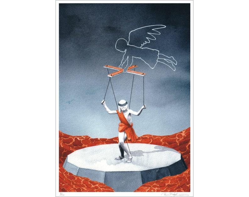 Det förflutnas marionett  Giclée print image 0