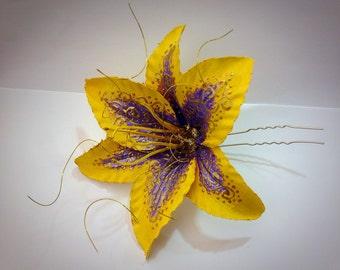 Rapunzel Tangled Themed Flower Hair Pin