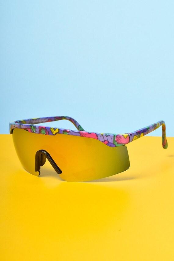 Deadstock Vintage Ski Sunglasses ~ 80s/90s ~ Multi