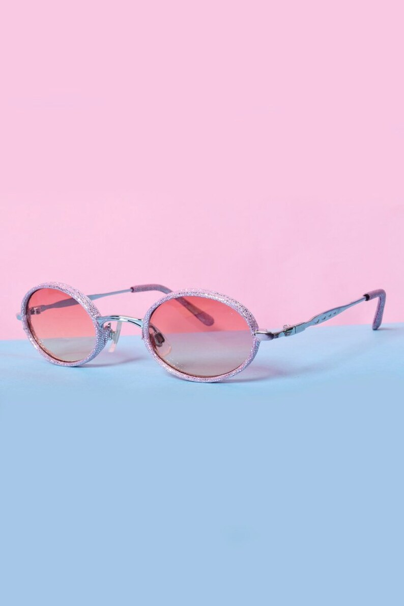 8b4d231ee0b55 Spice Deadstock Sunglasses Pink Glitter FREE SHIPPING Etsy