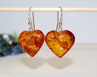 Long Amber Earrings Amber and Silver Earrings Oval Amber Earrings Baltic Amber  Earrings Amber Statement Earrings Earrings Amber Jewellery