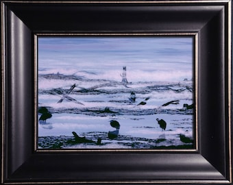 Framed Print - Blue Herons - 8 x 10 in